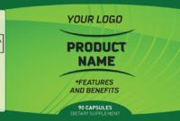 45 Elegant Vitamin Bottle Label Template for Dietary Supplement Label Template