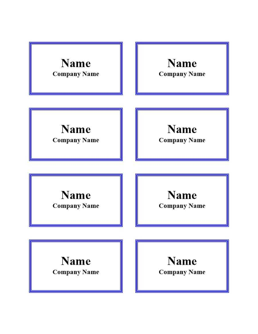 47 Free Name Tag + Badge Templates ᐅ Template Lab Within Free Name Label Templates