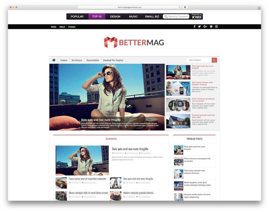 51 Best Free Responsive Blogger Templates 2019 - Colorlib Pertaining To Free Blogger Templates For Business