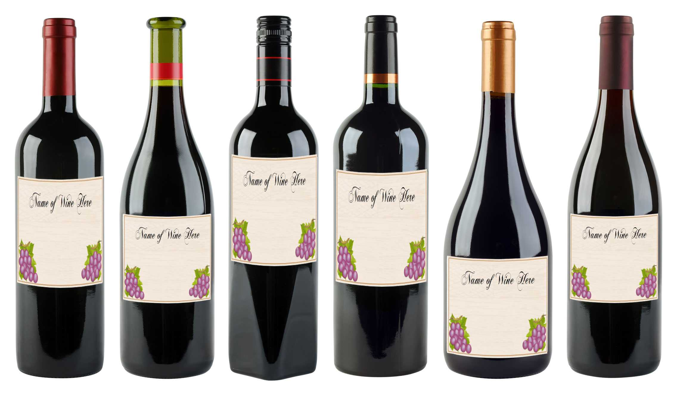 6 Free Printable Wine Labels You Can Customize | Lovetoknow Regarding Free Wedding Wine Label Template