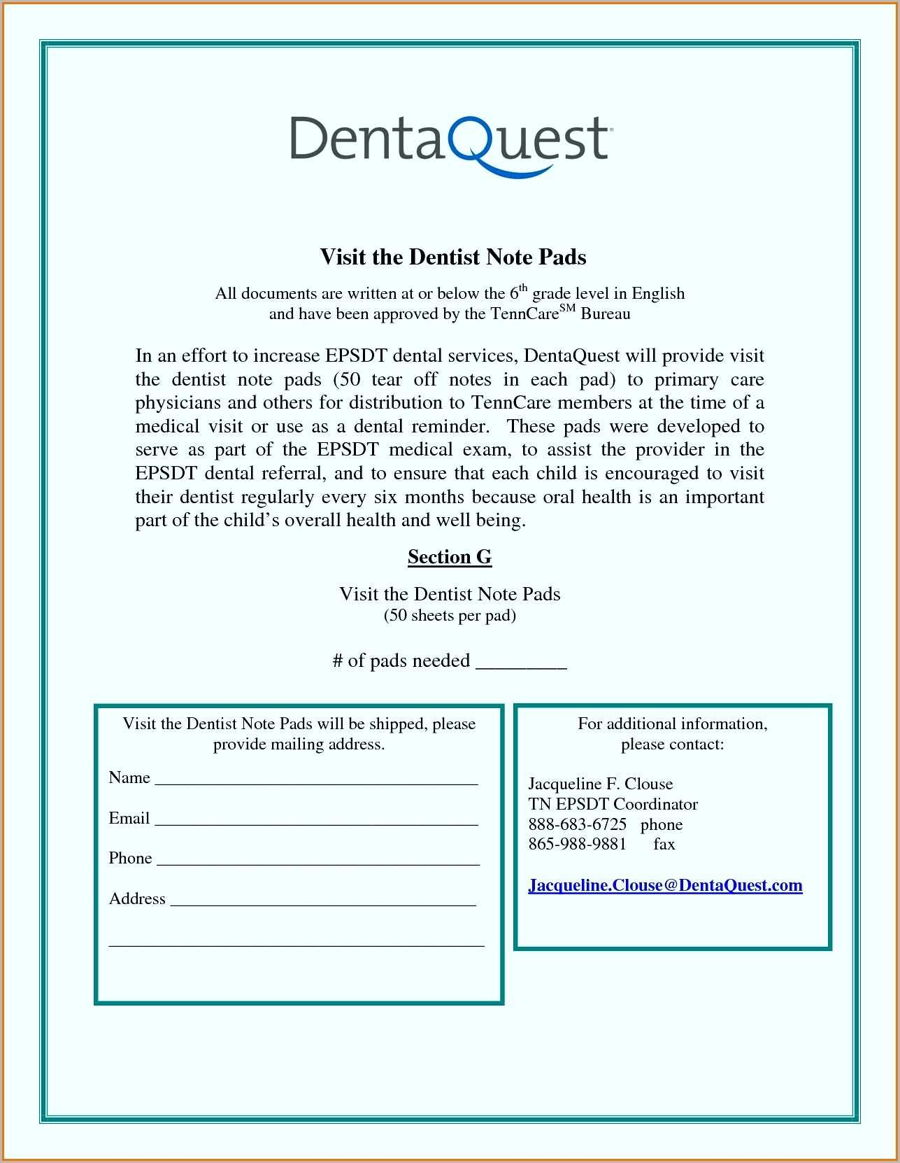 7+ Dental Note Examples - Pdf | Examples In Dental Treatment Notes Template