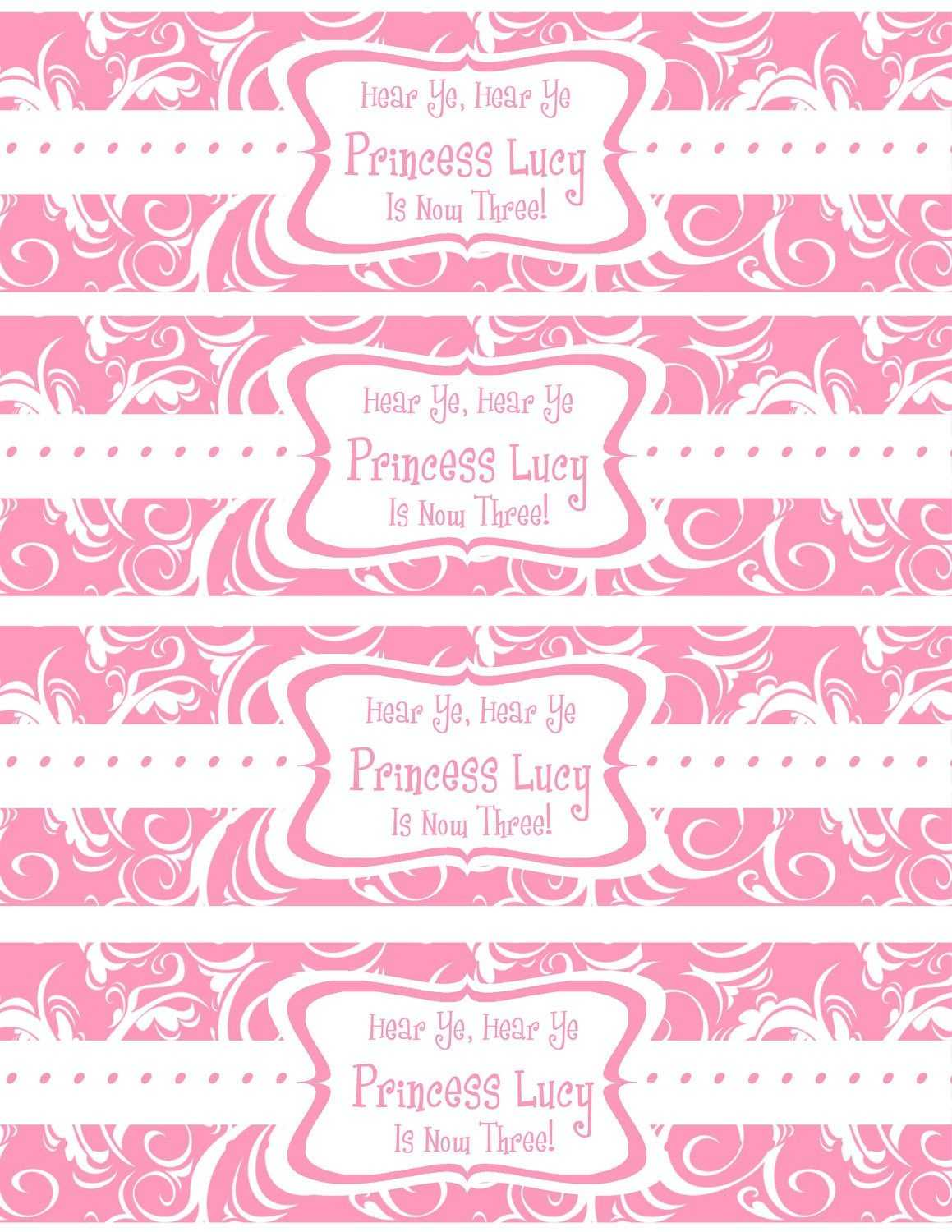 Accomplished Free Printable Water Bottle Labels Template Throughout Drink Bottle Label Template