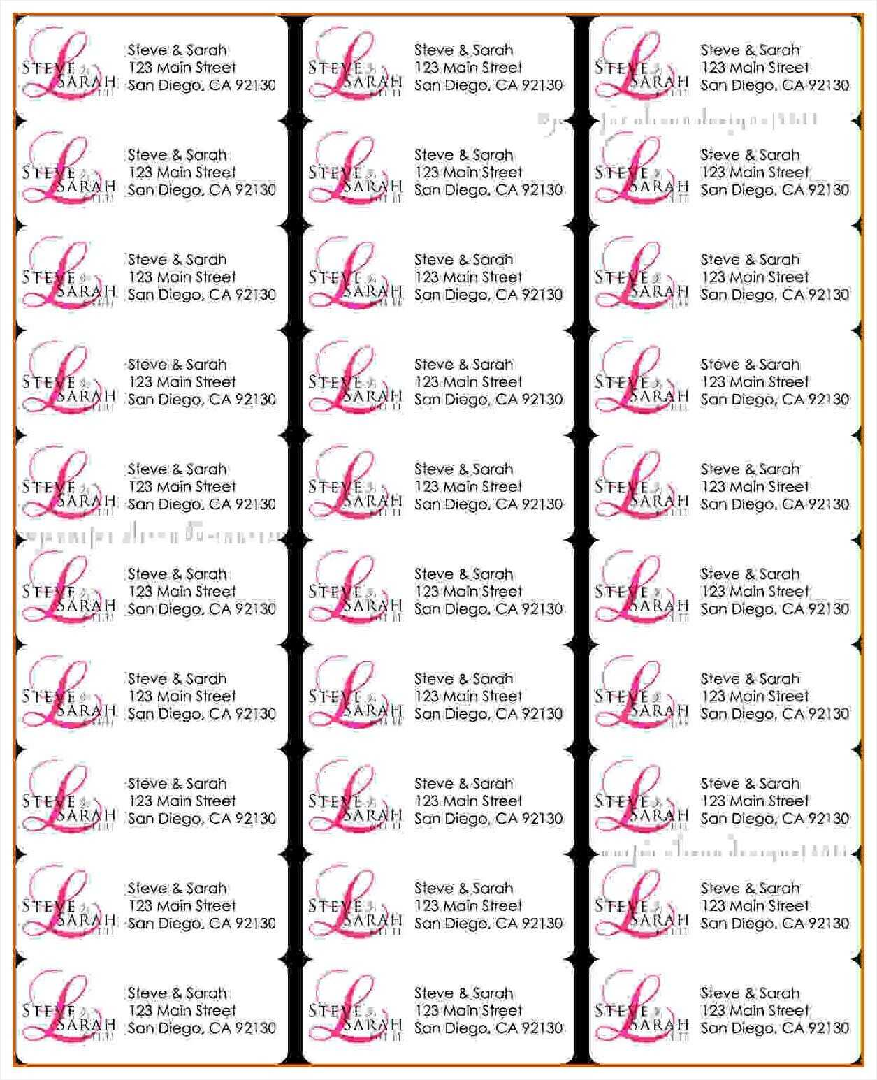Address Labels Free Template - Horizonconsulting.co In Free Printable Return Address Labels Templates