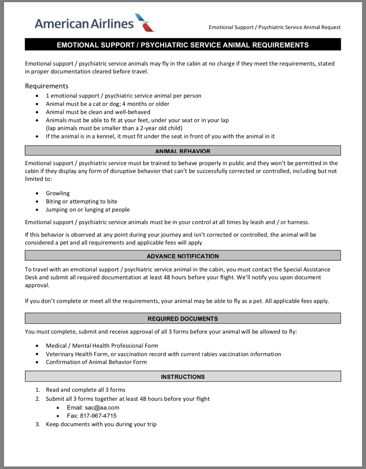 Airline Requirements For Traveling With An Emotional Support Regarding Emotional Support Animal Letter Template