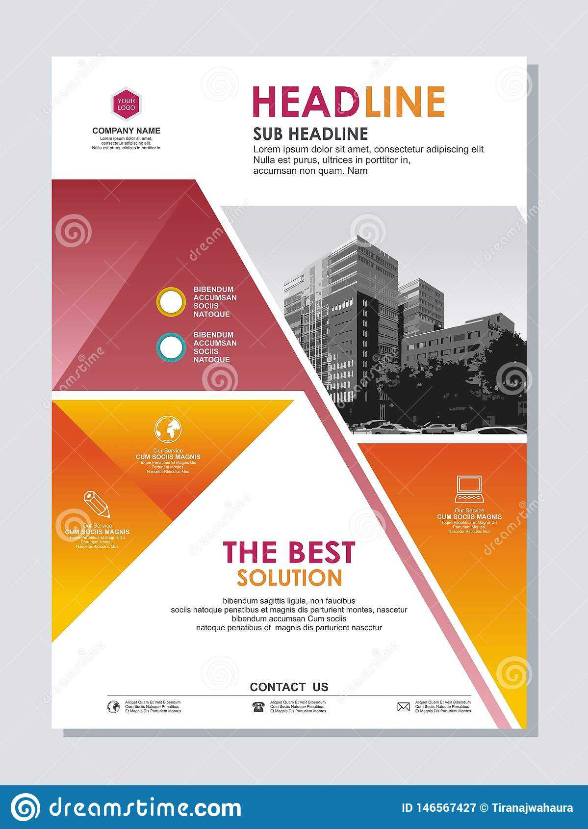 Annual Report Cover Or Flyer Template Design Stock Vector Within Flyer Announcement Template