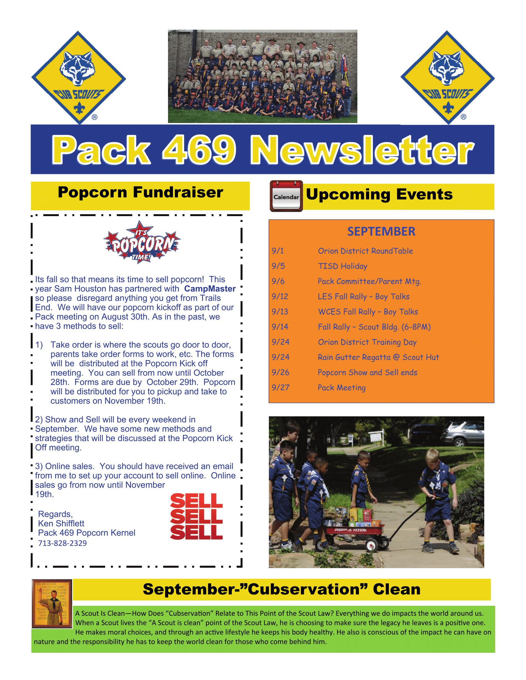 August Pack Newsletter! | Cub Scouts - Pack 469 | Do Your Best! Within Cub Scout Newsletter Template