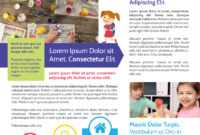 Awesome Daycare Newsletter Template with Daycare Brochure Template