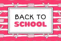 Back To School Banner Template Vector. Background For Sale Shopping,.. throughout College Banner Template