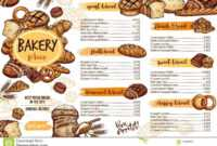 Bakery Menu Template Of Bread For Cafe And Pastry Stock in Free Bakery Menu Templates Download