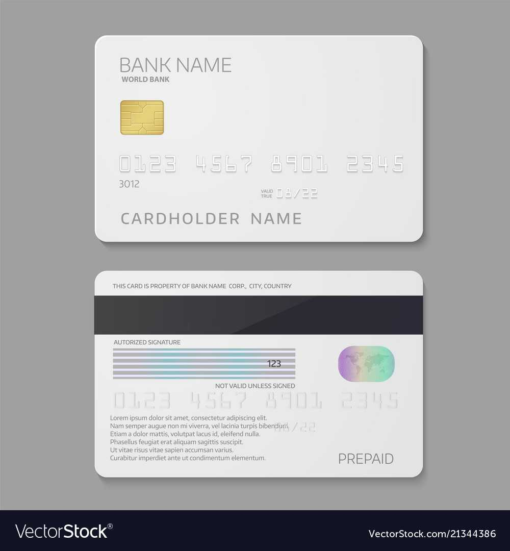 Bank Credit Card Template For Credit Card Templates For Sale