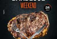 Barbecue Bbq Weekend Free Psd Flyer Template – Psdflyer.co for Free Bbq Flyer Template
