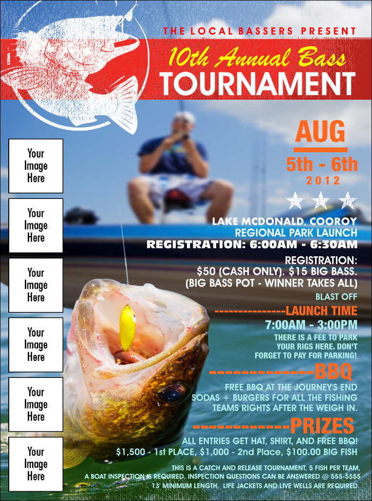 Bass Fishing Tournament Image Flyer With Regard To Fishing Tournament Flyer Template