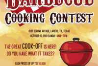 Bbq Cooking Contest Flyer Template intended for Contest Flyer Template