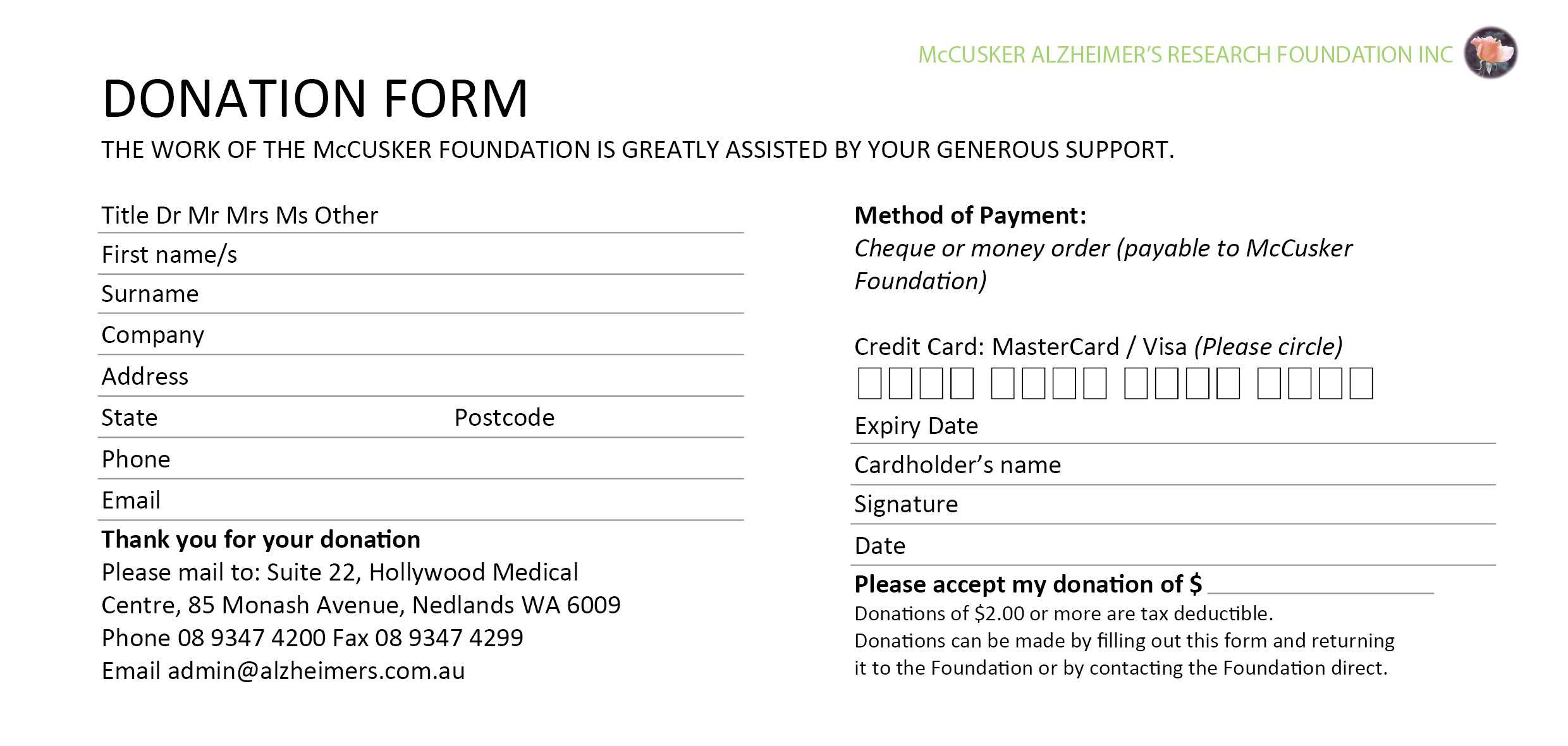 Best Fundraising Request Form Template Ideas ~ Thealmanac Inside Donation Cards Template