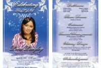 Best Photos Of Sample Obituary Funeral Program Templates inside Free Obituary Template For Microsoft Word
