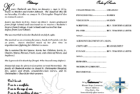 Best Photos Of Sample Obituary Funeral Program Templates within Free Obituary Template For Microsoft Word