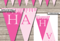 Birthday Banner Template Design Photoshop For Free With intended for Diy Birthday Banner Template