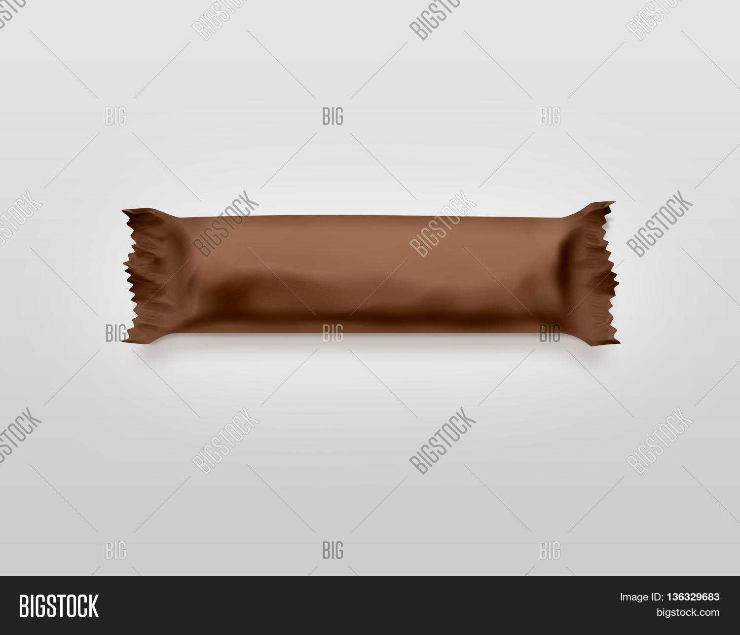 Blank Brown Candy Bar Image & Photo (Free Trial) | Bigstock In Free Blank Candy Bar Wrapper Template