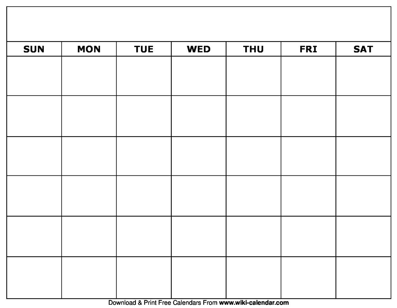 Blank Calendar Pdf - Colona.rsd7 Inside Full Page Blank Calendar Template