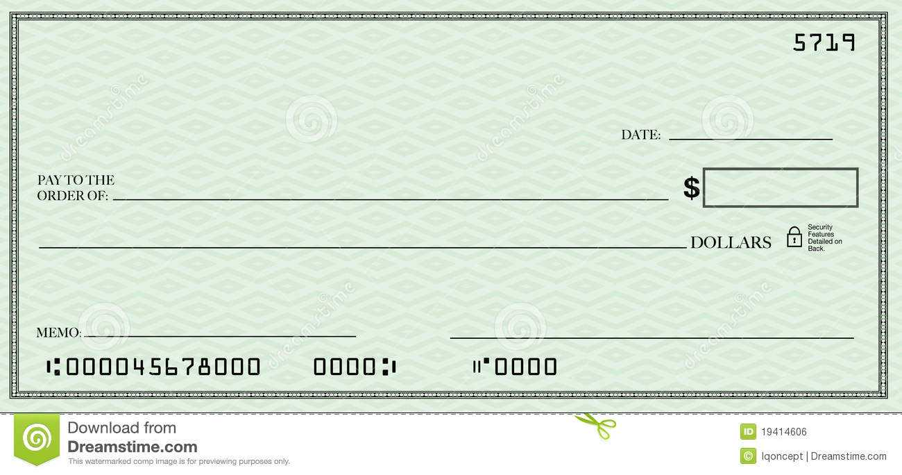 Blank Check Clipart Intended For Fun Blank Cheque Template
