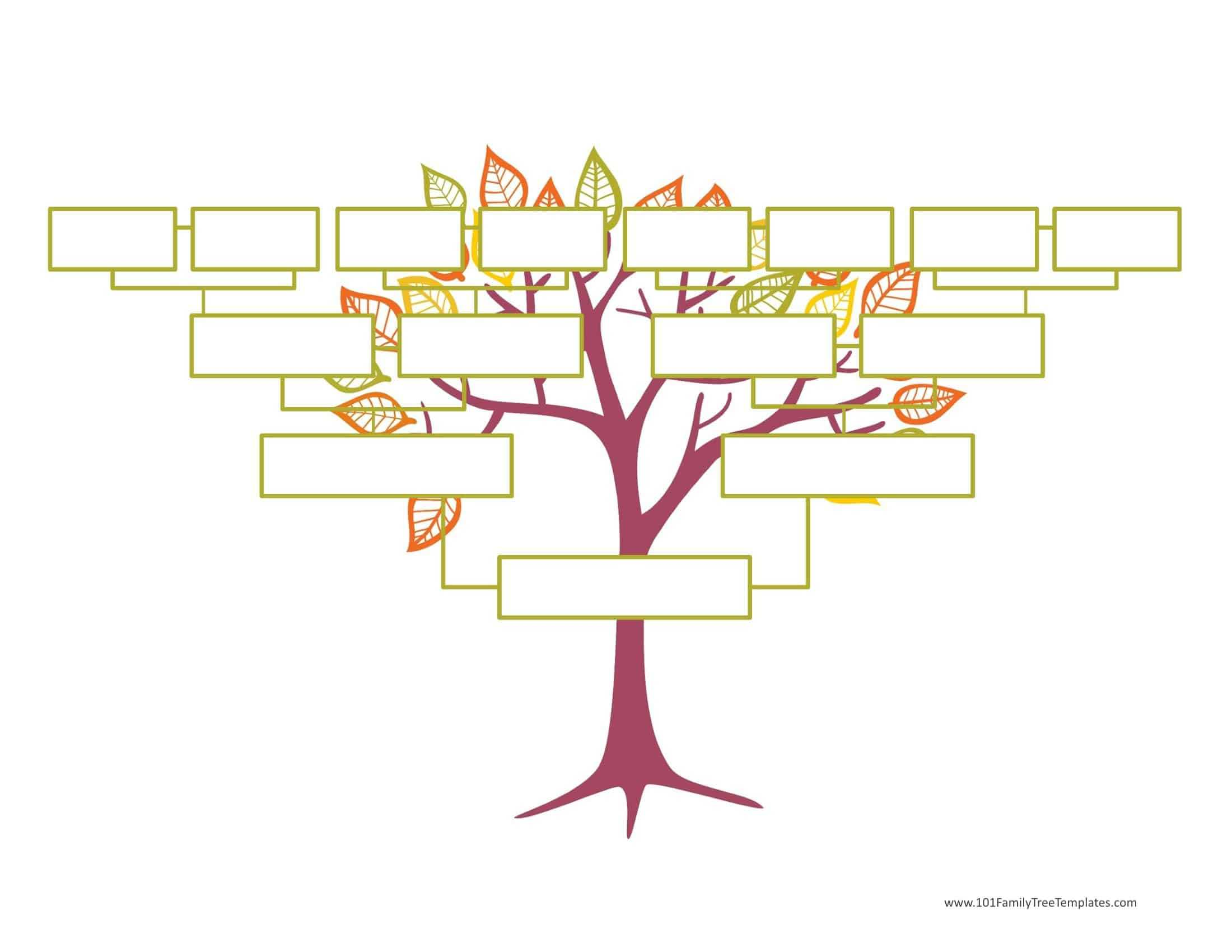 Blank Family Tree Template   Free Instant Download For Fill In The Blank Family Tree Template