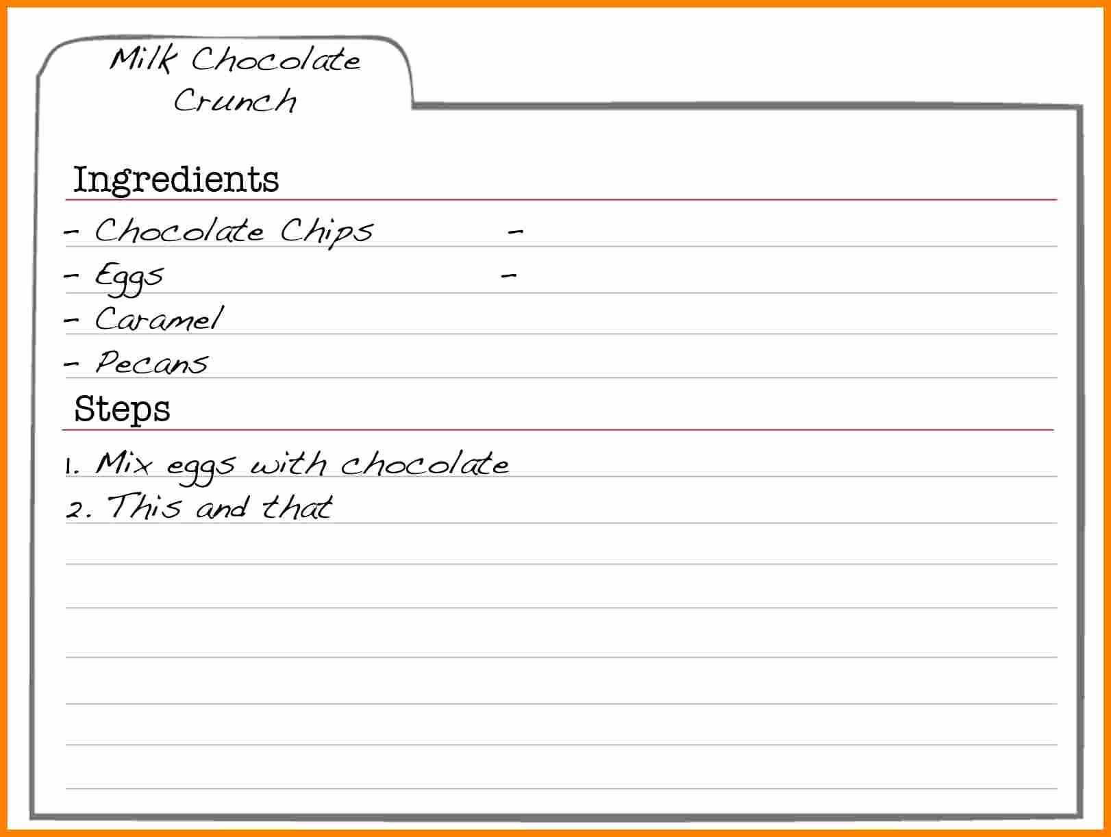 Blank Recipe Template For Word - Horizonconsulting.co With Regard To Full Page Recipe Template For Word