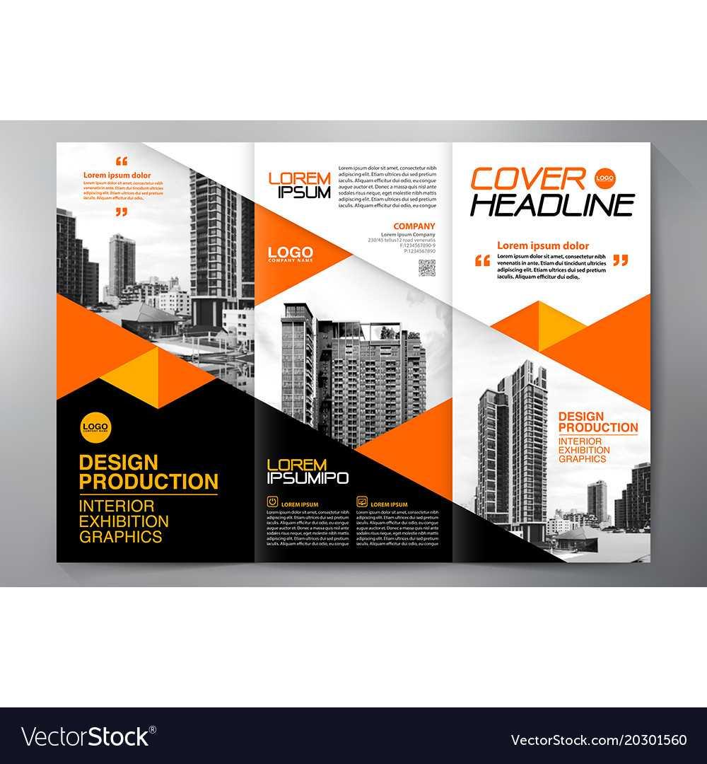 Brochure 3 Fold Flyer Design A4 Template Throughout E Brochure Design Templates