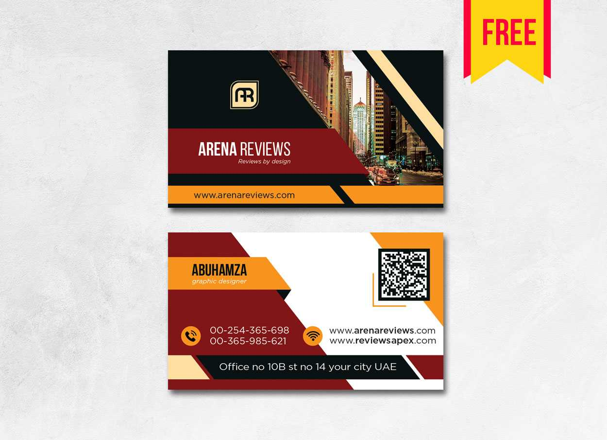 Building Business Card Design Psd - Free Download | Arenareviews For Download Visiting Card Templates