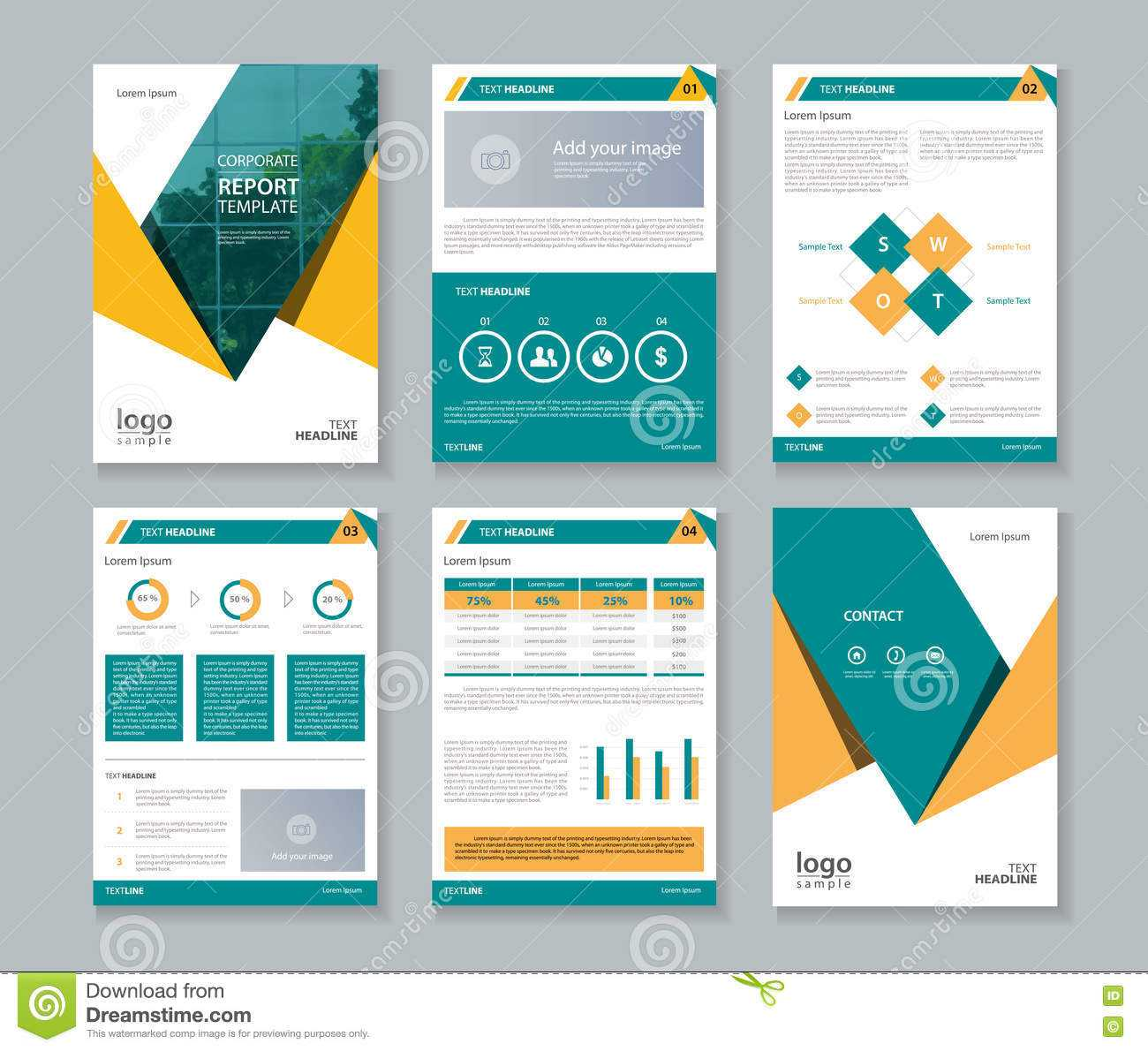 Business Company Profile Report And Brochure Layout Template Within Free Business Profile Template Word