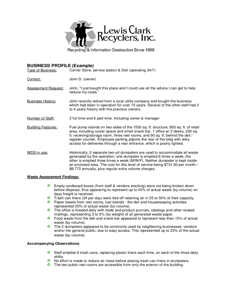 Business Profile Template – 2 Free Templates In Pdf, Word Regarding Free Business Profile Template Word