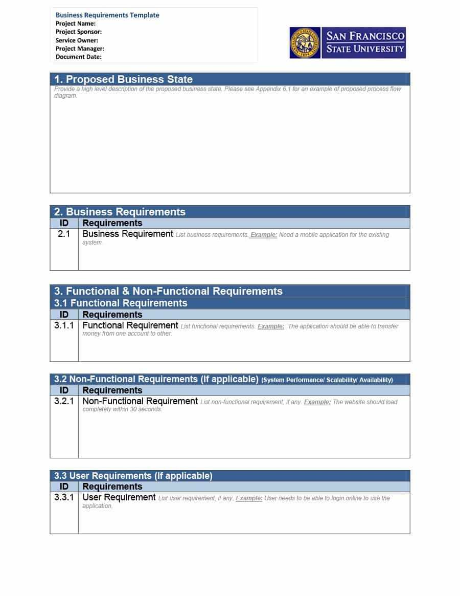 Business Requirements Ent Template Reporting Gathering Data Intended For Data Warehouse Business Requirements Template