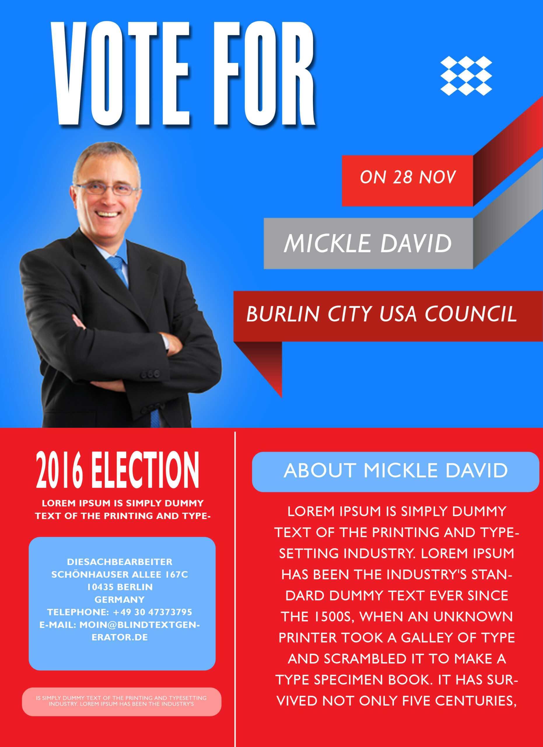 Campaign Flyer Templates - Tunu.redmini.co Pertaining To Election Campaign Flyer Template
