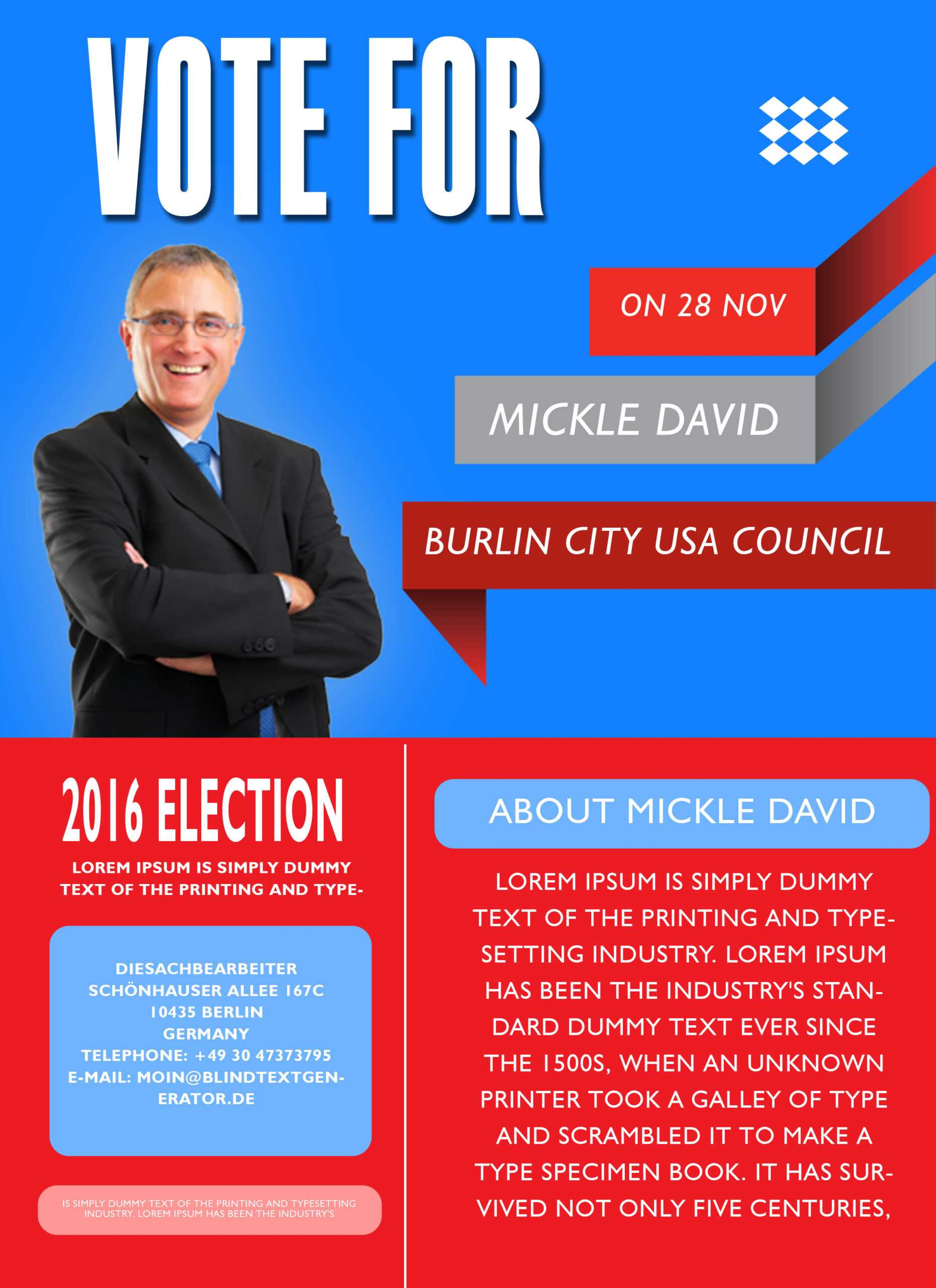 Campaign With These Elegant Free Political Campaign Flyer Throughout Election Flyers Templates Free