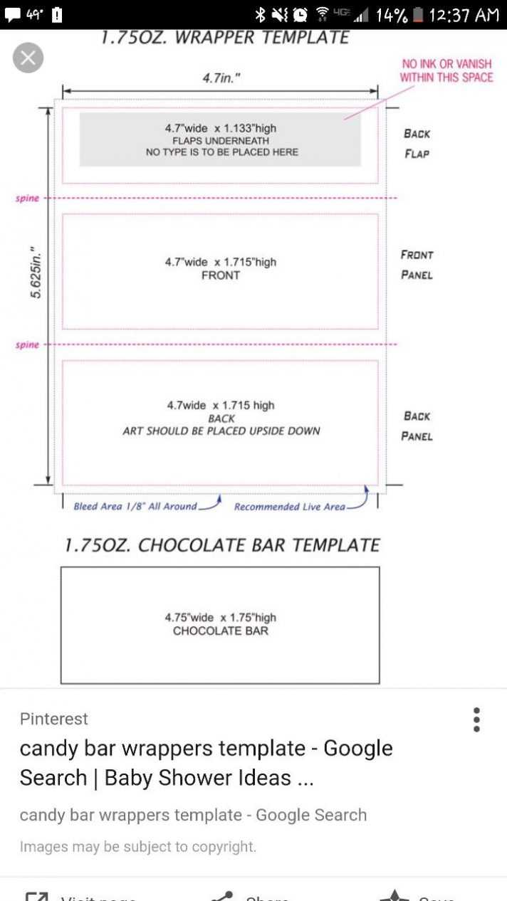 Candy Bar Wrapper Template Chocolate With Peanut Mock Up For Inside Free Blank Candy Bar Wrapper Template