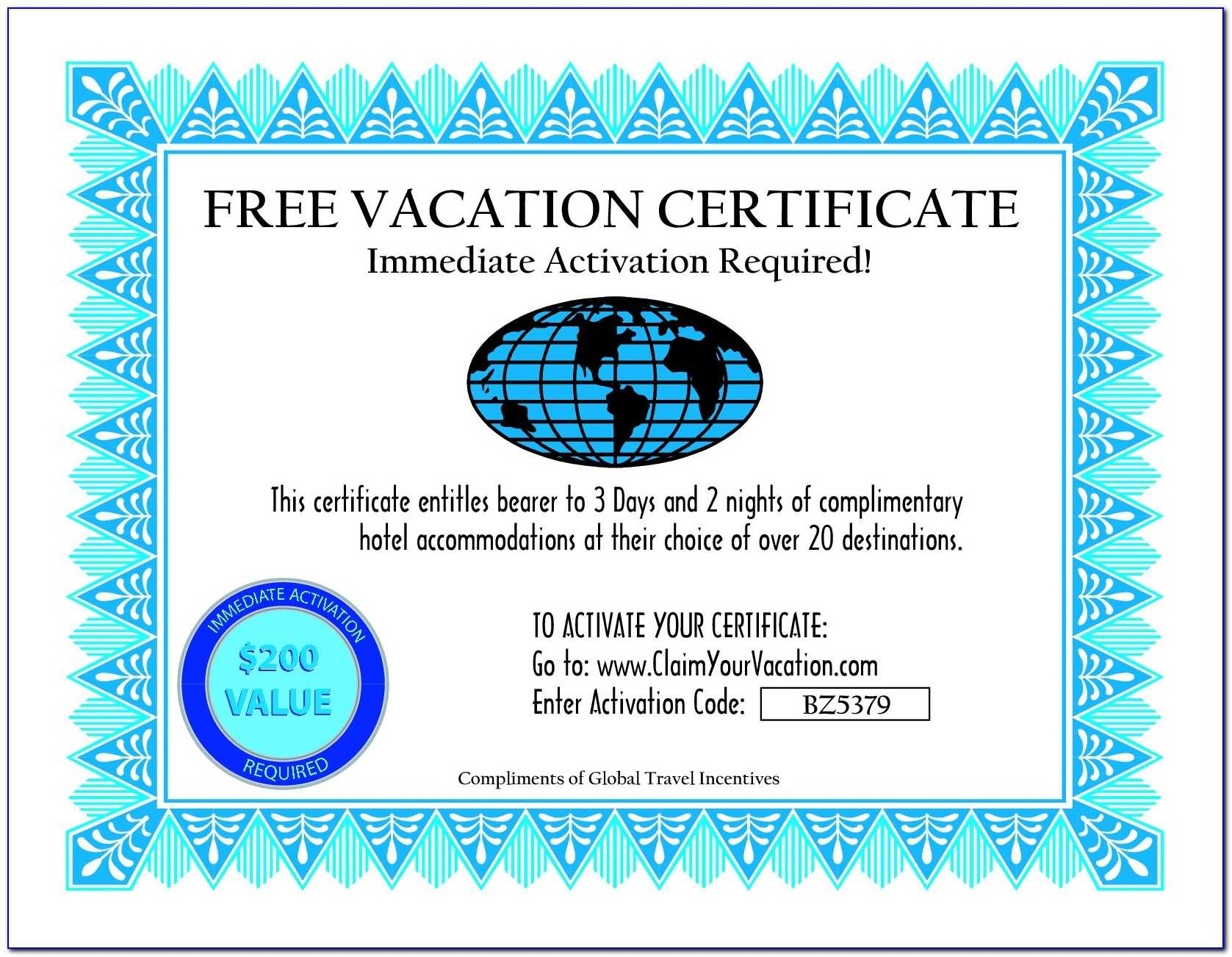 Catholic Baptism Certificate Template Word - Template Intended For Free Travel Gift Certificate Template