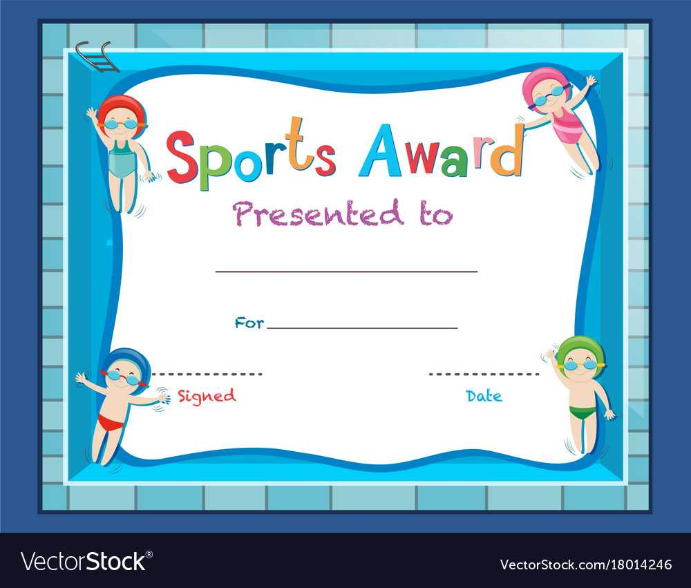 Certificate Template With Kids Swimming With Free Swimming Certificate Templates