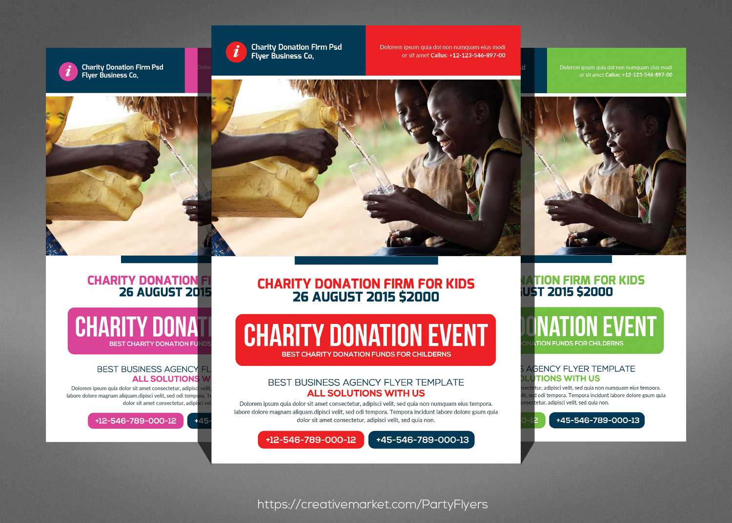 Charity Donation Flyer Inside Donation Flyer Template