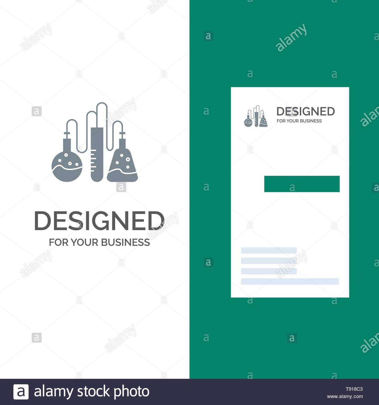 Chemical, Dope, Lab, Science Grey Logo Design And Business For Dope Card Template