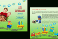 Child Care Brochure Template 16 in Daycare Brochure Template