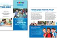 Child Care Brochure Template 4 throughout Daycare Brochure Template
