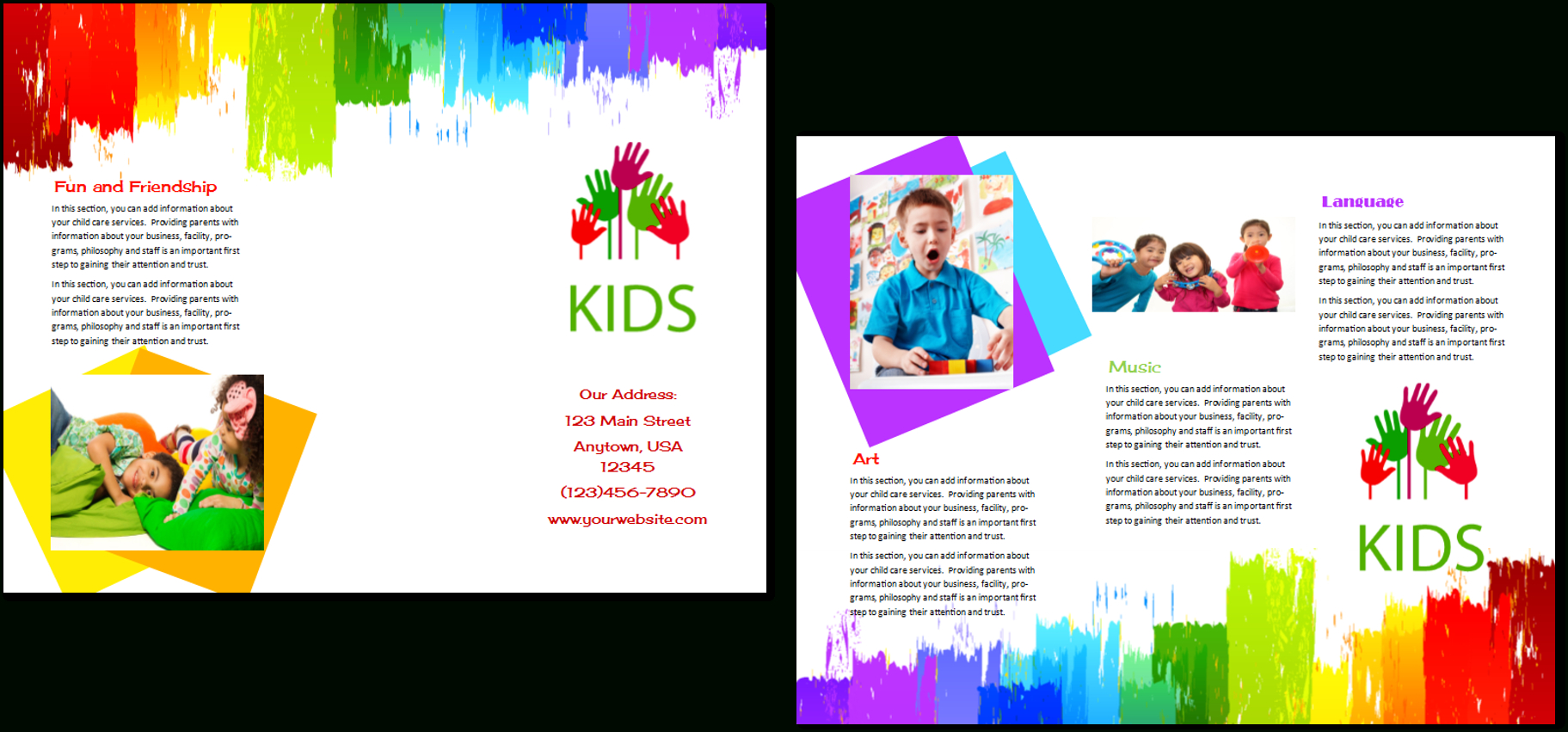 Child Care Brochure Template 9 With Daycare Brochure Template