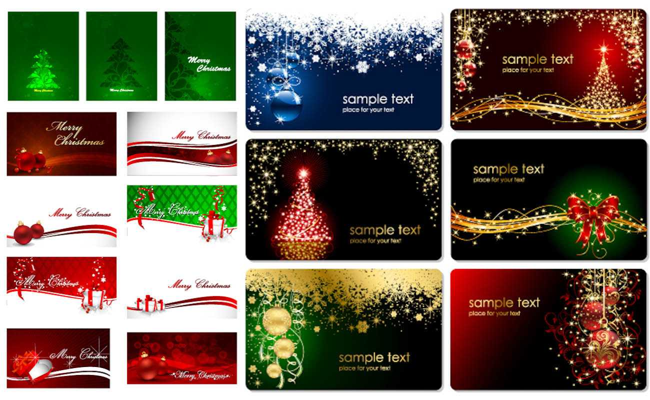 Christmas Cards Vector   Vector Graphics Blog Within Christmas Photo Cards Templates Free Downloads