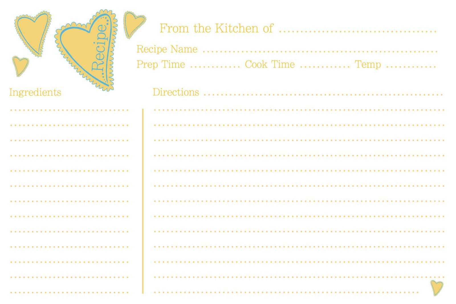 Christmas Cookie Exchange Recipe Card Template Food Fox Regarding Cookie Exchange Recipe Card Template