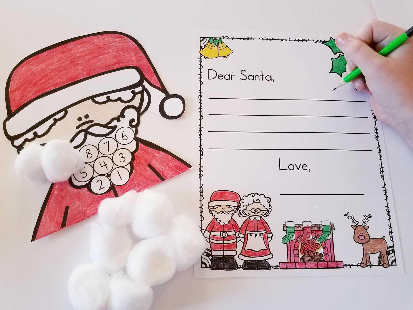 Christmas Countdown Santa And Dear Santa Letter   Mrs For Dear Santa Template Kindergarten Letter