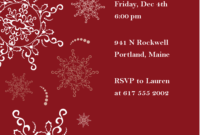 Christmas Dinner Invitations Templates Free ] – Christmas pertaining to Free Dinner Invitation Templates For Word