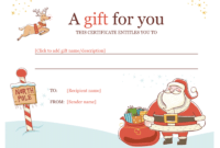 Christmas Gift Certificate – Download A Free Personalized intended for Free Christmas Gift Certificate Templates