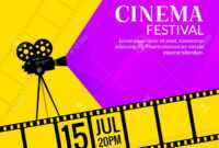Cinema Festival Poster Template. Film Or Movie Flyer Festival.. throughout Film Festival Brochure Template