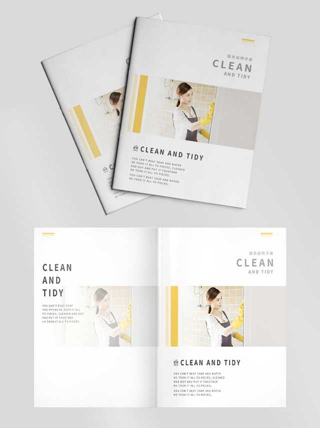 Cleaning Cleaning Company Album Brochure Template For Free Regarding Commercial Cleaning Brochure Templates