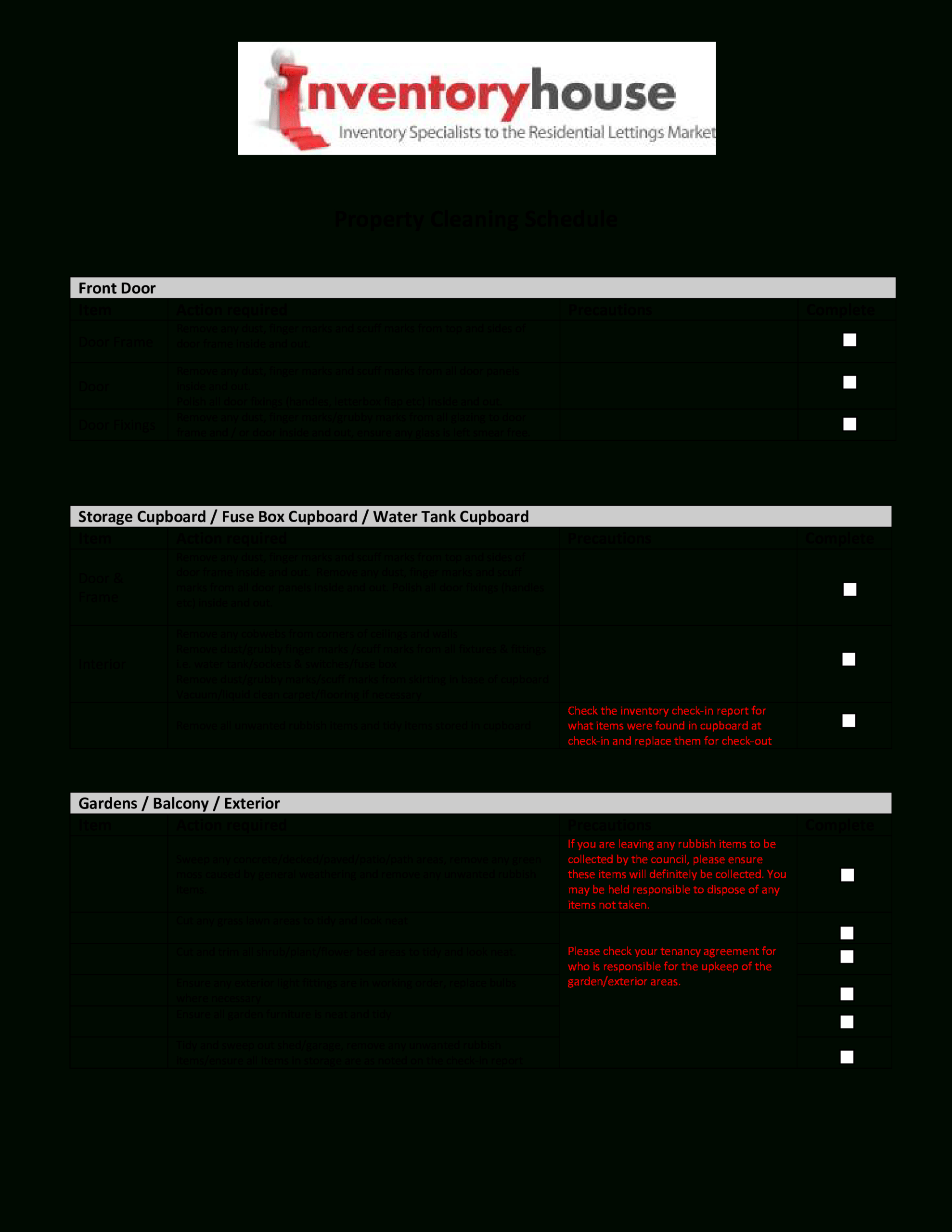 Cleaning Report | Templates At Allbusinesstemplates Regarding Cleaning Report Template