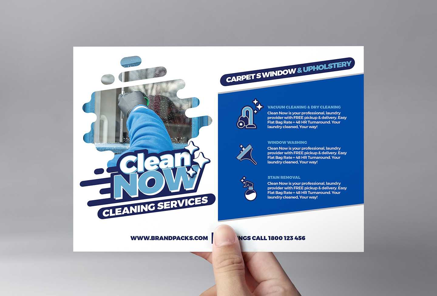 Cleaning Service Flyer Template In Psd, Ai & Vector - Brandpacks Within Cleaning Company Flyers Template